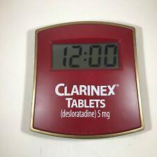 Drug Rep Advertising Clarinex Tablets Digital Wall Clock