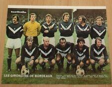 football poster team Jensen Ruiter Giresse équipe Girondins Bordeaux 1971-72