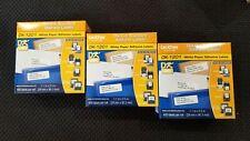 "3 rolls Brother DK-1201 Die-Cut Standard Address Labels White 1.1 "" X 3.5 "" 1200"