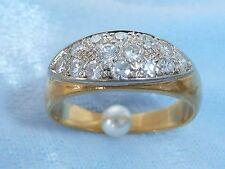 Vintage 18K Yellow Gold Band, 12, 2.25mm Diamonds, TW .50 Carat. size 5.25