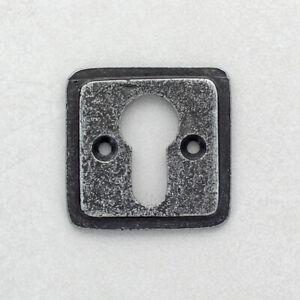 Cube Pewter Euro Escutcheon Key hole