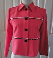 Koret Women Blazer Top Watermelon Red Long Sleeves Button Down Size 6P VTG