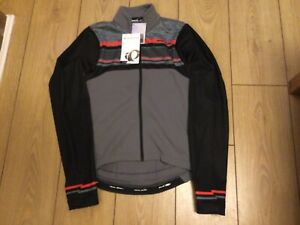 Pearl Izumi Mens Select Thermal LTD cycling Jersey Size Small Grey, Red, Black