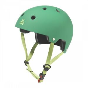 Triple Eight Dual Certified SM/MD 21.7 to 22.8` (55 to 58 cm) Green BMX/Skate