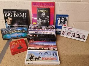 12 x Music Boxset CD Job lot - Beethoven Classics Soul Legends The Rat Pack