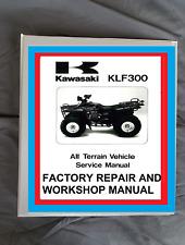 New Listing1986-2006 Kawasaki Klf300 Bayou quad Atv Factory Service Repair Manual 3 books! (Fits: Kawasaki)
