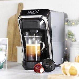 Lakeland 2-in-1 Coffee Pod Machine in Dark Grey for Nespresso and Dolce Gusto