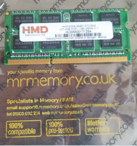 HMD 4GB 4 GB DDR3 1066MHz CL7 184PIN SO-DIMM Laptop RAM made in UK