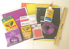 Back to School Supply Bundle Kindergarten to Eighth Grade Crayons to Notebooks
