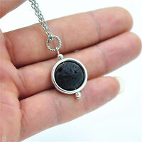 Lava Rock Stone Bead Aromatherapy Essential Oil Diffuser Pendant Necklace Gift