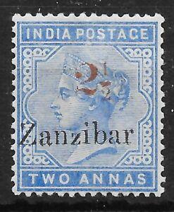 ZANZIBAR SG40 1896 2½ ON 2a DULL BLUE MTD MINT
