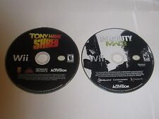 Nintendo Wii Posten 2 Spiele Disc Only-Tony Hawk Shred, Call of Duty MW3
