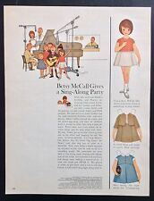 Betsy McCall Mag. Paper Doll, Betsy McCall Gives a Sing-Along Party, Nov. 1963