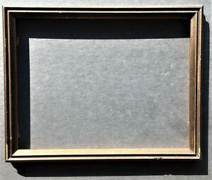 vintage 7 3/4x9 3/4  Art Deco wood dark bronze color frame cadre c 1935 + glass