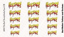 Small Scale Hot Rod Rowdy Roddy Piper  Logo Waterslide Decals for Action Figures