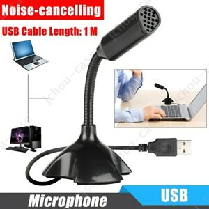 Universal USB Stand Desktop Microphone Mini Mic For PC Laptop MacBook Computer