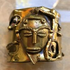 Very Old Mask Hand Made Ethnic Cuff Bracelet - Very Unique! Rare