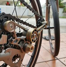 Lightweight CNC chain tensioner with wheels set for 2/6 speed