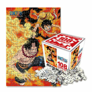 One Piece Anime Licensed 108pcs Jigsaw Puzzle Cube Ace&Ruffy 10x14.7cm