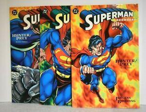 DC SUPERMAN DOOMSDAY HUNTER PREY  #1 2 & 3 Complete Set Three Book Lot