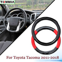 Anti-Slip Carbon Fiber Leather Car Steering Wheel Cover For Toyota Tacoma 2011+