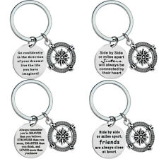 Compass Keyring Key Chains Sister Best Friends Gift Keychain Pendants Keyring
