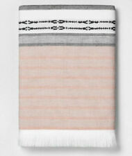 Hearth & Hand With Magnolia Engineered Ombre Border Bath Towel Copper/gray 27x52