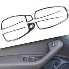 Carbon Fiber Door Handle Armrest Window Lift Trim For Audi A6 A7 S6 S7 C7 A03