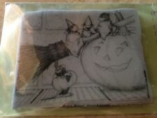 "House Mouse ""Three Witches"" Rubber Cling Stamp!! Halloween"
