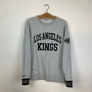 Men's LOS ANGELES KINGS Crew Neck Mitchell&Ness NHL Hockey Sweatshirt Large