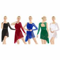 Women's Lace Ballet Leotard Dance Dress Lyrical Gymnastics Modern Contemporary