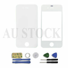 White Front Screen Glass Lens Repair Replacement For iPhone 4S 4 + Tools