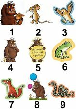 Gruffalo Characters Large Sticky White Paper Stickers Labels New