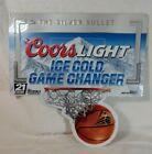"Coors Light Basketball Wall Tin Decor Silver Beer 18""x18"""