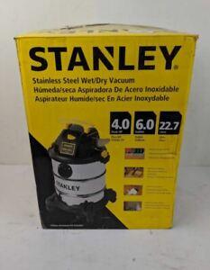 Stanley SL18116 Wet/Dry Vacuum, 6 Gallon, 4 Horsepower, Stainless Steel NIB