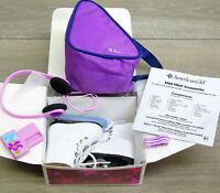 American Girl Mia Doll ACCESSORIES Ice Skates Guards Headphones Armband Bag BOX