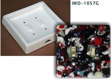 IMD-1057G TOGGLE Double SWITCHPLATE - glass fusing mold NEW