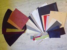 Lot de TISSUS ET CUIR differents couleurs et tailles TBE pour loisir créatif !