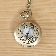 Magic Alice Clock Necklace Pocket Watch Antique Style Pendant Vintage Retro