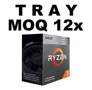AMD RYZEN 3 3200G 'TRAY' 4 CORE AM4 CPU, 3.6GHZ 4MB 65W NO CPU Cooler