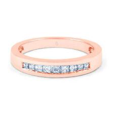 Princess Anniversary Natural Rose Gold Fine Diamond Rings