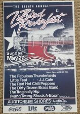 Red Hot Chili Peppers Poster 1990 Austin,Tx. Little Feat JJ Cale Tragically Hip