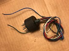 Vintage Wired 6-pin Black Shorting Plug w/ Plastic Cover 1950s