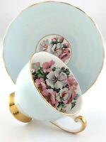 Vintage Teacup and Saucer Windsor Fine Bone China England Flowers T391
