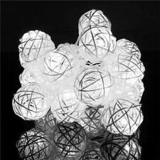 20 LED Rattan BALL String Lights Fairy Lamp Wedding Party Christmas Xmas Decor