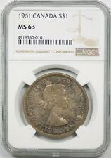 1961 Canada $1 NGC MS 63 (Toned) Silver Dollar