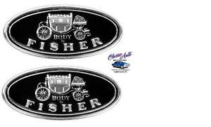 Door Sill Scuff Plate Fisher Emblems,Pair FL01
