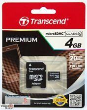 TRANSCEND 4GB MicroSD Karte Class 10 Speicherkarte MicroSDHC SDHC 4 GB micro