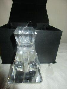 NIB MARILYN MIGLIN GLASS PERFUME EMPTY REFILLABLE BOTTLE BOXED, DESIGNER VINTAGE