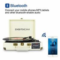 Bluetooth Portable 3-Speed USB Suitcase Vinyl Record Player Stereo Turntable